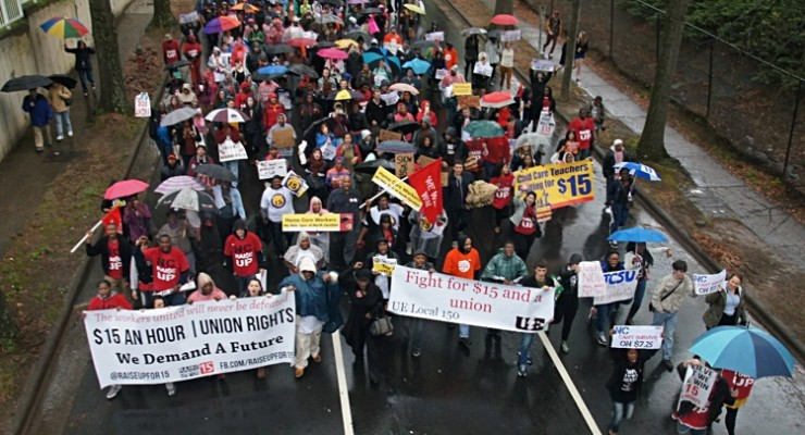 March in Raleigh for better wages, April 15, 2015 Photo by Phil Fonville