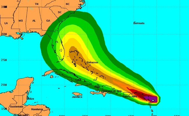 Computer models show an increasing chance of Erika making it to the East Coast.