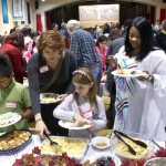 At the Thanksgiving welcome for refugees in Greensboro - via Triad City-Beat